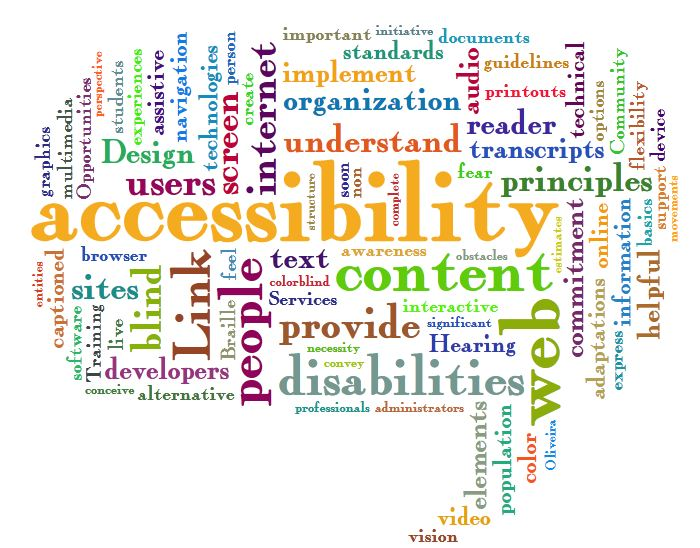 Web accessibility word cloud (jil-wright-cc-by-on-flickr)